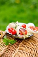 Wrap with tomatoes photo