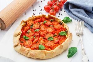 tarta de tomate cherry foto