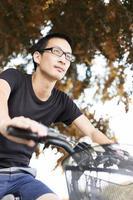 Man biking photo