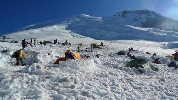 Monte Rainier, campo base Schurman