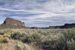 rocha de umatilla, parque estadual dos lagos secos do sol, estado de washington