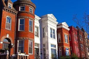 arquitectura urbana histórica en el suburbio de Mount Vernon de Washington DC.