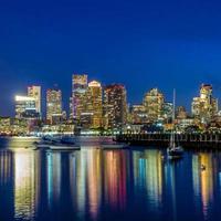 panorama del horizonte del centro de boston