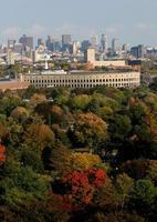 Harvard Stadium in the Fall