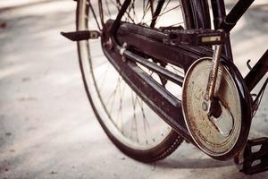Old vintage bicycle photo