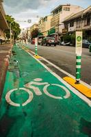 rough_bike_lane_in_BKK photo