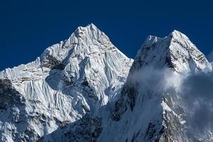 view of Ama Dablam from Dingboche