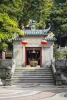 a-ma chinese temple in macau china photo