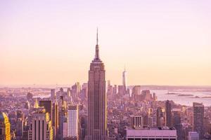 La vista del Empire State Building desde el Rockafeller Center foto