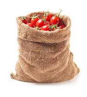 Tomatoes in canvas bag