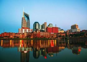 Downtown Nashville cityscape in the morning photo