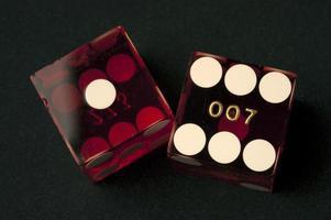 Pair of red dice photo