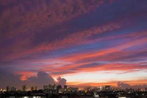 Sunset at bangkok photo