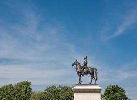 Estatua del rey de Tailandia.