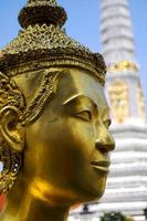 ângulo de close-up da cabeça de Buda