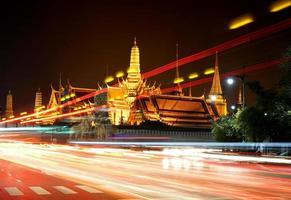 night cityscape of bangkok photo