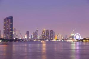 Bangkok city at night photo