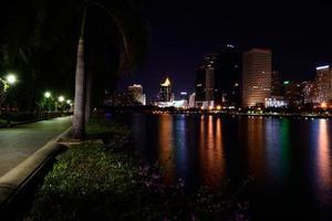Bangkok night and Benchakitti Park photo