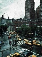 july, rain, and yellow cabs photo