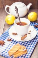 tea with lemon photo