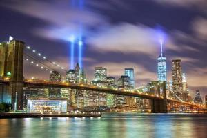 Manhattan in memory of September 11