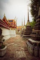 Templo de budismo en la ciudad de Bangkok, Tailandia