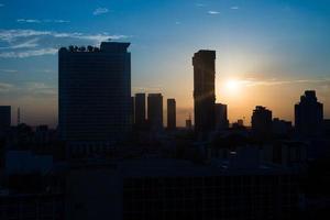 Silhouette photo city