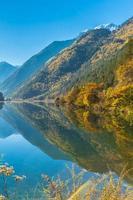Beautiful lake in Jiuzhaigou national park