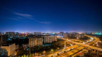 flyover of Chengdu in the evening photo