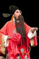 hombre de ópera china en rojo