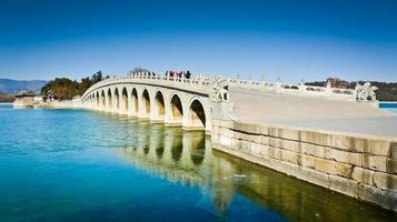 puente de diecisiete arcos foto
