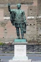 Statue CAESARI NERVAE Augustus, Rome, Italy photo