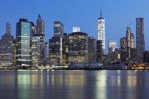 Vista del centro de Manhattan de Nueva York al atardecer foto