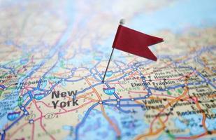 New York flag map