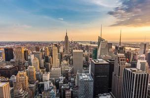 horizonte del centro de la ciudad de nueva york foto