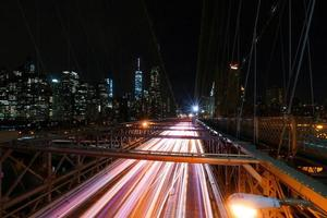NYC Brooklyn Bridge and Manhattan photo