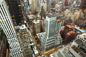 New York City Manhattan aerial view photo