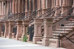 casas de harlem en la ciudad de nueva york foto