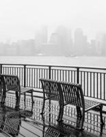New York City skyline on a rainy day photo