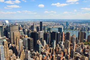 New York City Manhattan skyline aerial view photo
