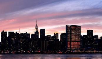 cidade de nova york manhattan silhueta do centro