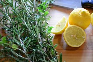 lemons and herbs photo