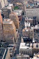cidade de nova york manhattan rua vista aérea