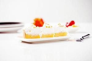 Pastel de merengue de limón