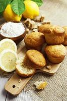 Homemade lemon cake photo