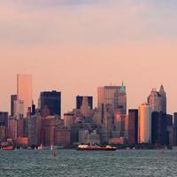 Manhattan downtown skyline photo