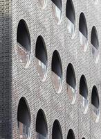 Detalle de la fachada del Dream Downtown Hotel, Manhattan, Nueva York