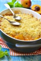Peach crumble. photo