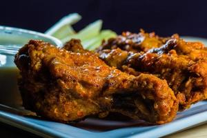 Close up buffalo chicken wing photo