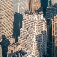 New York City Manhattan midtown aerial panorama view with skyscr